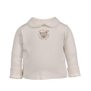Baby Collared Shirt with Crochet Teddy-bear