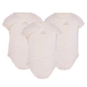 Short sleeved crossover bodysuit set