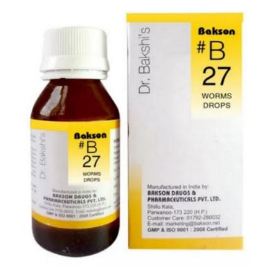 Bakson B27 Worms Drops 30ml