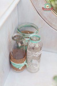 Vintage üveg asztaldísz bérlés