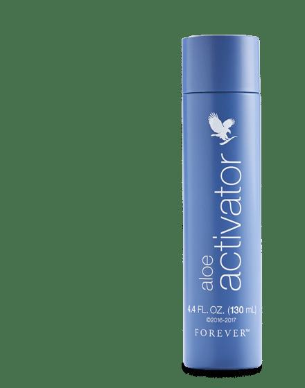 flacon forever living aloe activator spray bleu 130mL