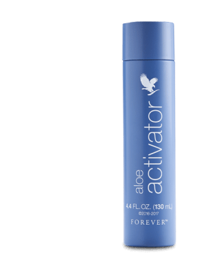 flacon forever living aloe activator spray bleu 130mL