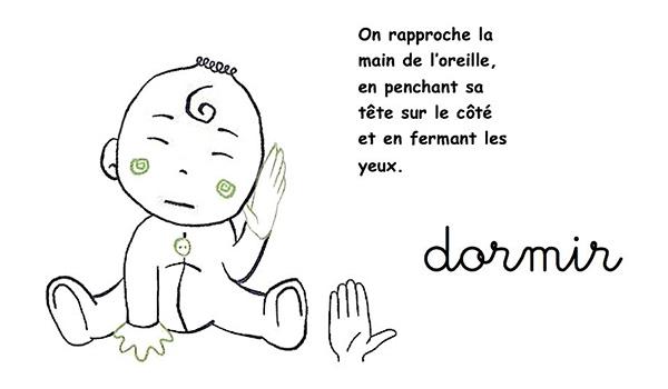 Langue de signe pour bébé - dodo