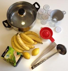 préparation de la confiture à la banane