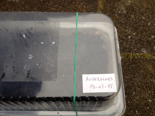 Identification et date de semis sur l'étiquette