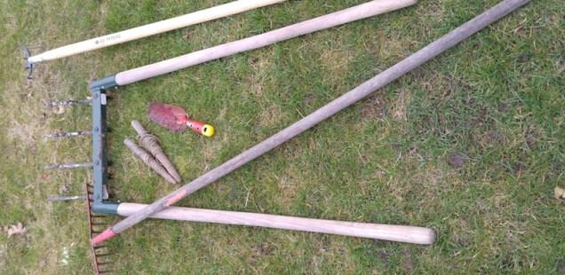 Les outils utilisés au potager