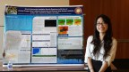 Amy Tsai with her poster at the MCB Honors Symposium