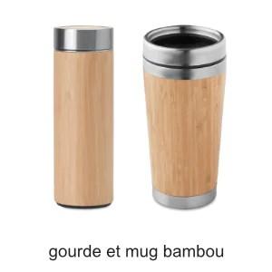 gourde et mug bambou