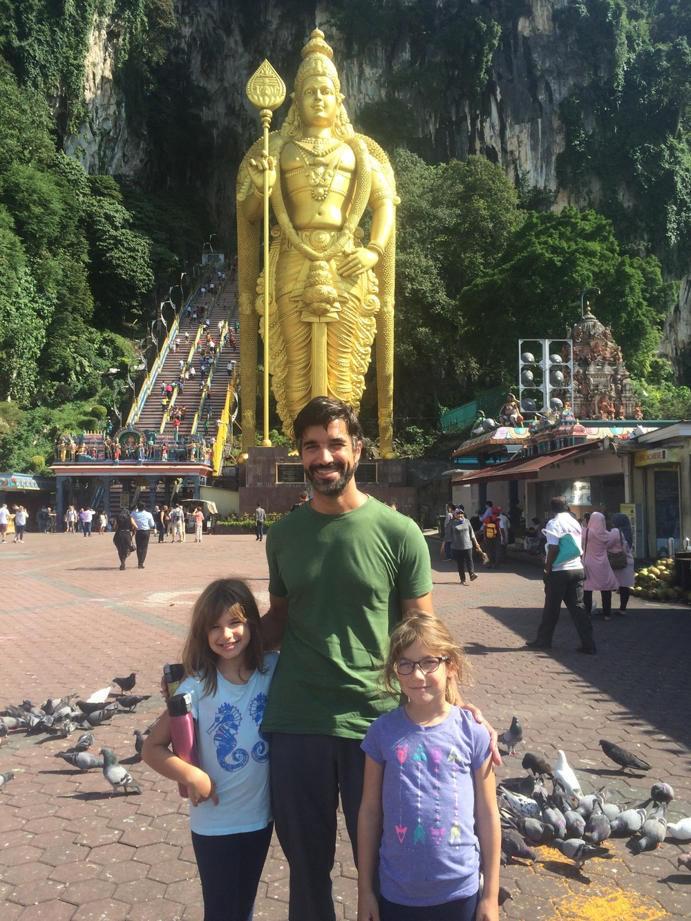 The Batu Caves is the most popular Hindu shrine outside of India. It's almost 300 steps to the top!