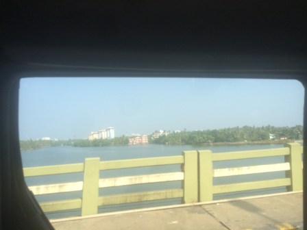 View from the car on the way to Kochi