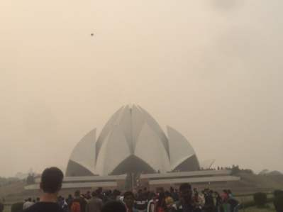The Lotus Temple, a Baha'i House of Worship.