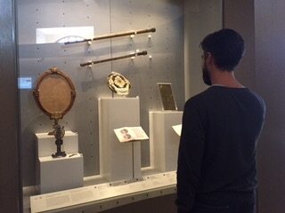 Anthony checking out Galileo's telescopes