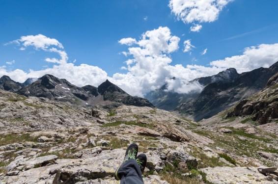 Lacs du Mont Clapier - Vue Montagnes
