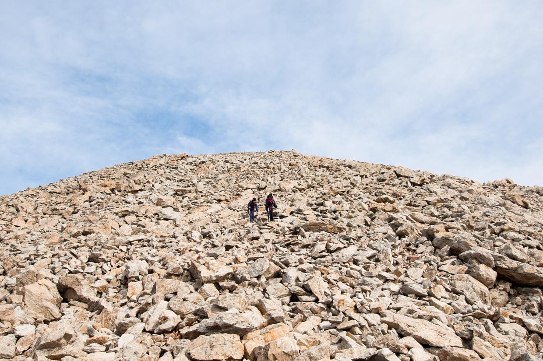 Descente du mont Clapier