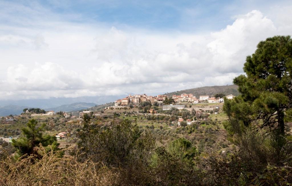 Vue du village de Seborga