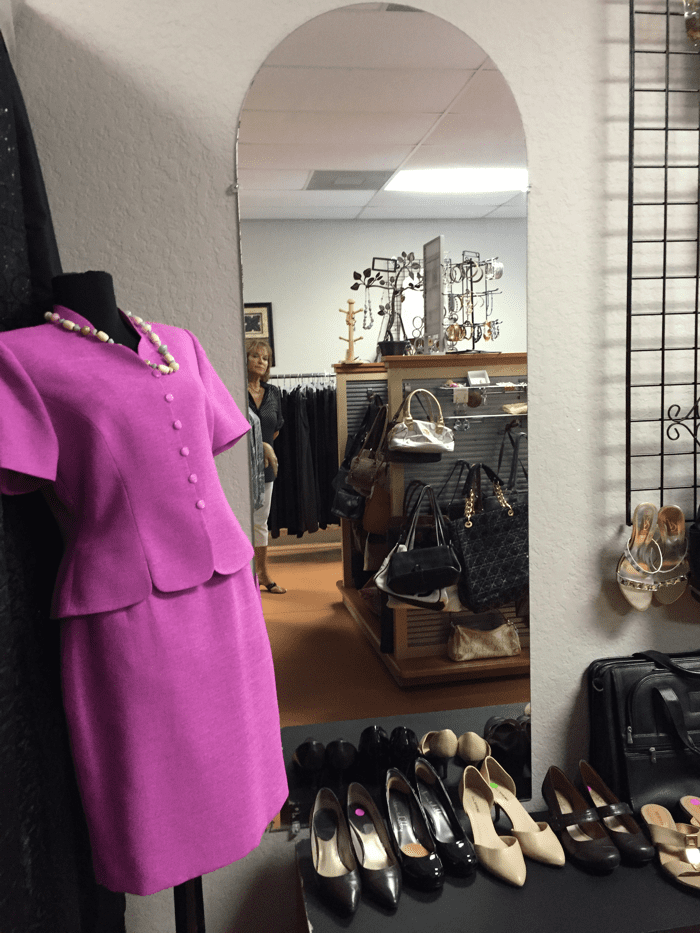 With a large selection of shoes, Debbie specializes in coordinating the perfect look to help a client feel perfectly put together.