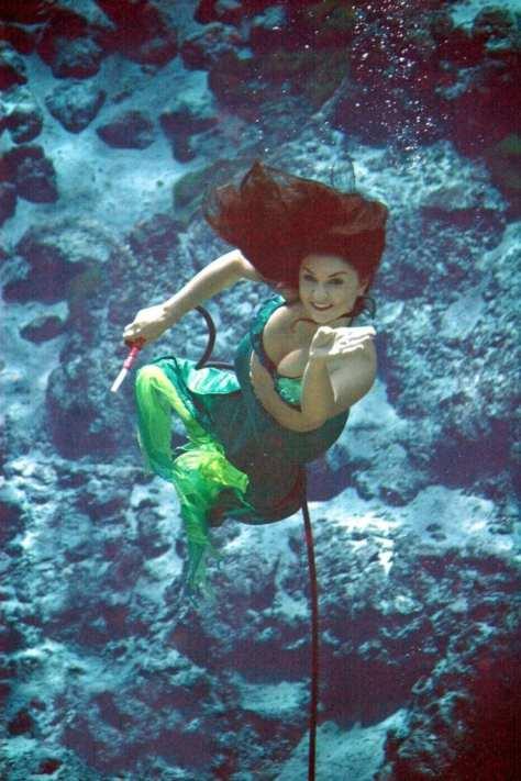 Cheyenne became a Weeki Wachee mermaid