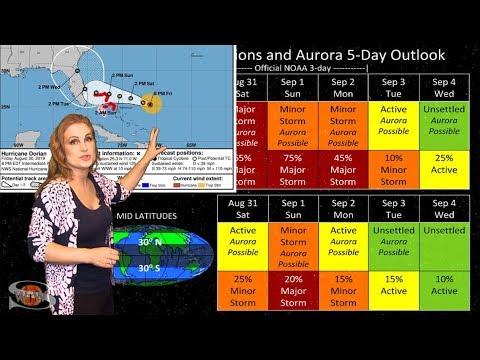 Hurricane Dorian & Smart Space Radiation Medicine: Solar Storm Forecast 08-31-2019