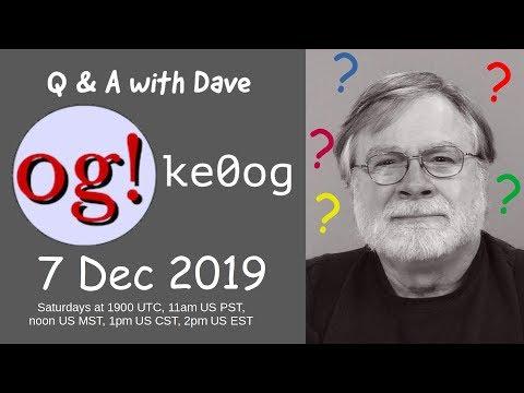 Live Q&A 7 Dec 2019