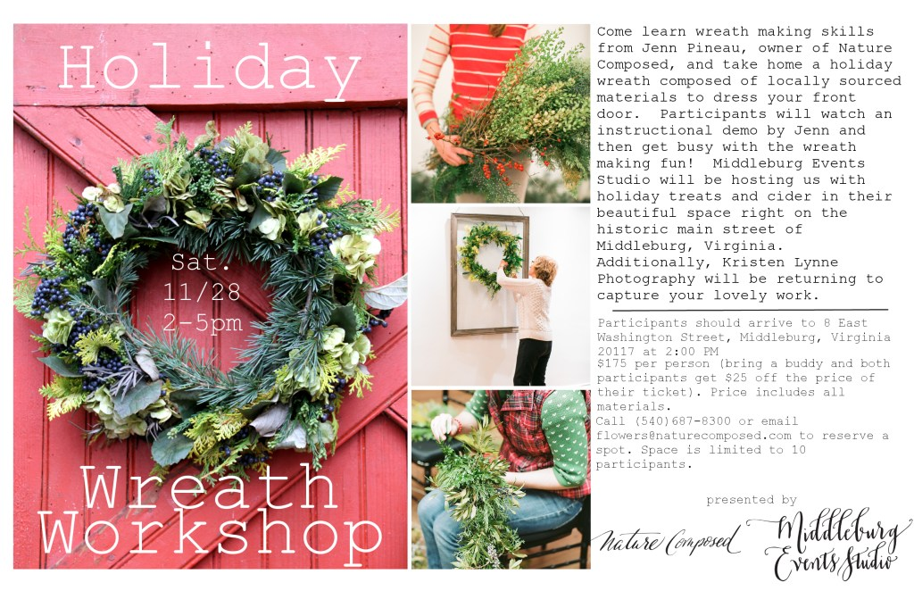Holiday Wreath Workshop 2015