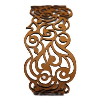 Bracelet cuir camel motif vagues