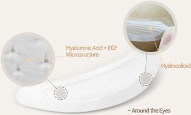 mikronõeltega silmaümbruse mask