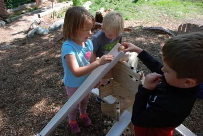 Children in Outdoor Classroom