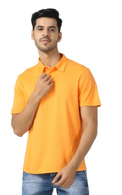 Bamboo clothing Sustainable orange Polo T shirt 4