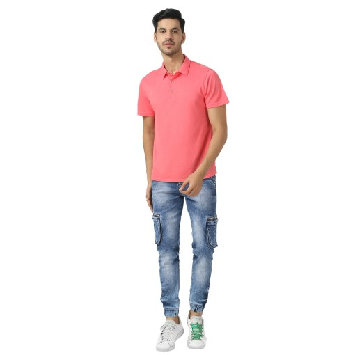 Bamboo clothing Sustainable pink Polo T shirt 3
