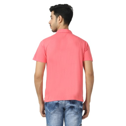Bamboo clothing Sustainable pink Polo T shirt 7