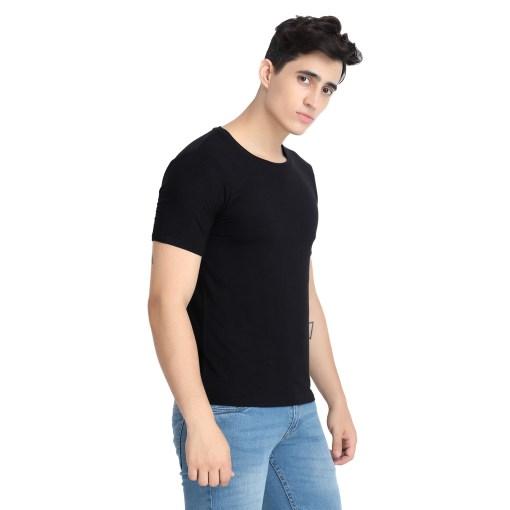 Naturefab Mens Bamboo Clothing T Shirt Black Roundneck 6
