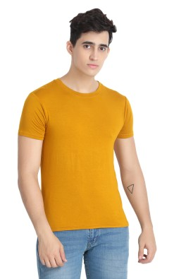 Naturefab Mens Bamboo Clothing T Shirt Mustard Roundneck 4