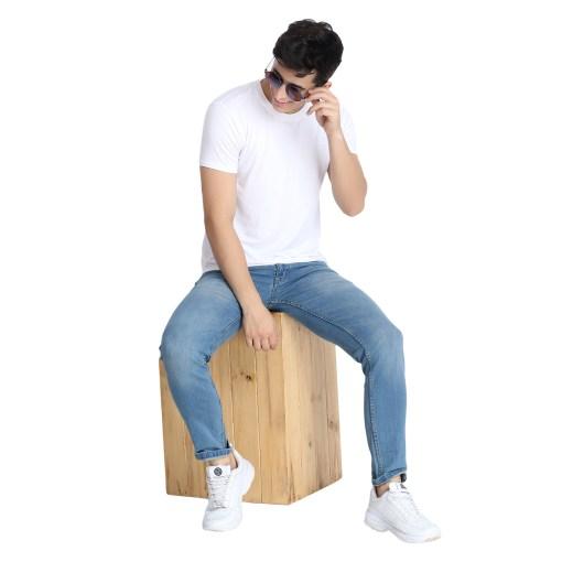Naturefab Mens Bamboo Clothing White T Shirt Roundneck 1