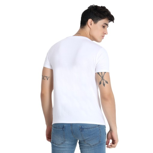Naturefab Mens Bamboo Clothing White T Shirt Roundneck 7