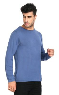Naturefab Mens Bamboo Sun UV Protective Fabric Full sleeve T Shirt Blue 5