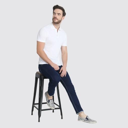 Naturefab Mens Sustainable Bamboo ClothingWhite Polo Tshirt 8