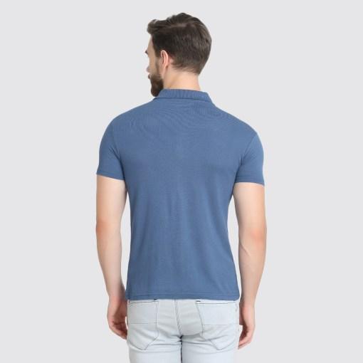 Naturefab Mens Sustainable Bamboo Fabric Polo Tshirt Blue Grey 7