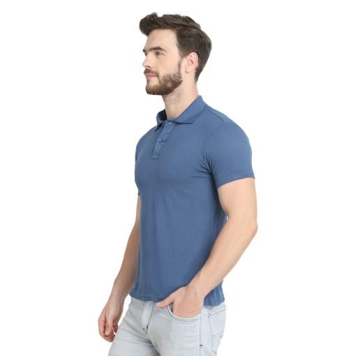 Naturefab Mens Sustainable Bamboo Fashion Polo Tshirt Blue 4
