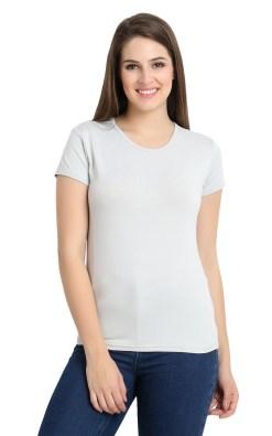 Naturefab Womens Sustainable Bamboo Clothing T Shirt Grey 4