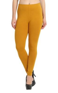 Naturefab Womens Sustainable Bamboo Fashion Leggings Mustard 4