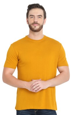 naturefab mens bamboo clothing pique tshirt mustard 6