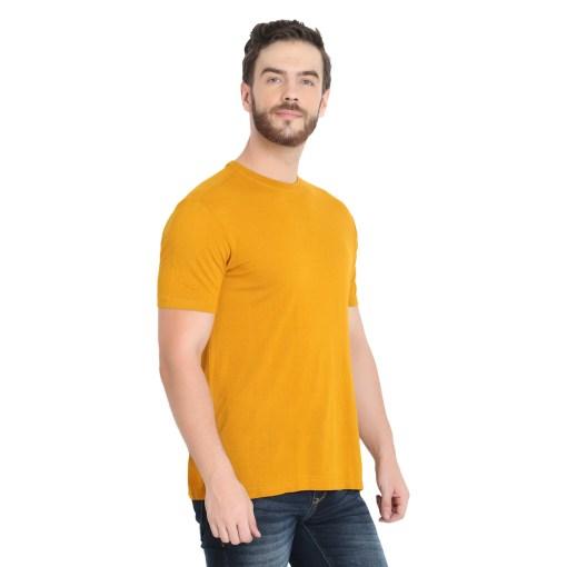 naturefab mens bamboo clothing pique tshirt mustard 8