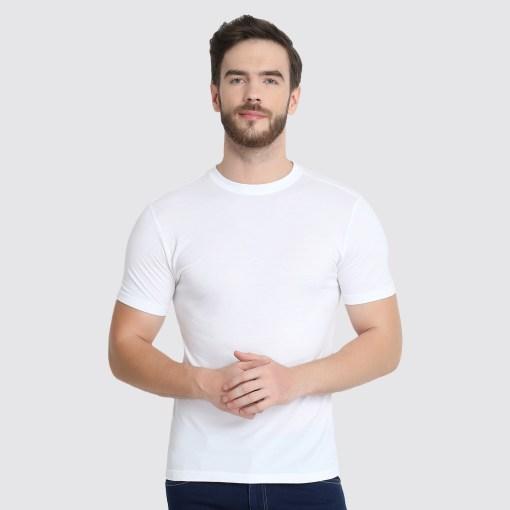 naturefab mens bamboo clothing pique tshirt white 2