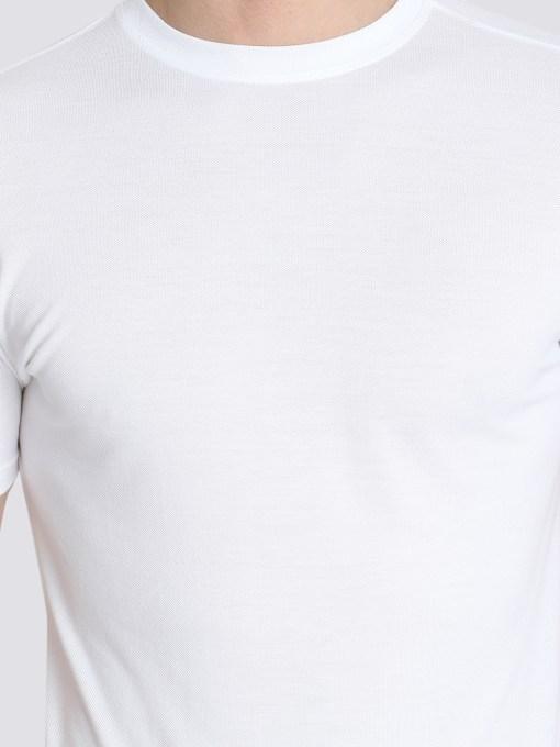 naturefab mens bamboo clothing pique tshirt white 7