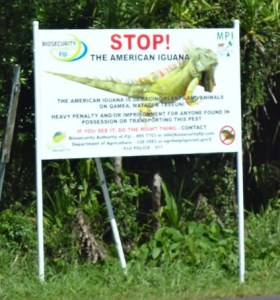 AIEC billboard along the main road on Taveuni Island.
