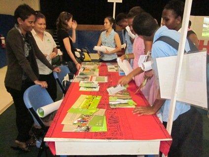 NatureFiji-MareqetiVitiat the International Secondary School 2012 Careers Day