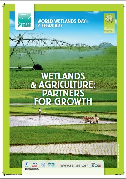 2nd February is World Wetlands Day – 'Wetlands and Agriculture: Partners for Growth'