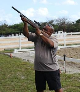 High- powered Air Gun (or small bore rifle) have been found to be most effective for iguanas