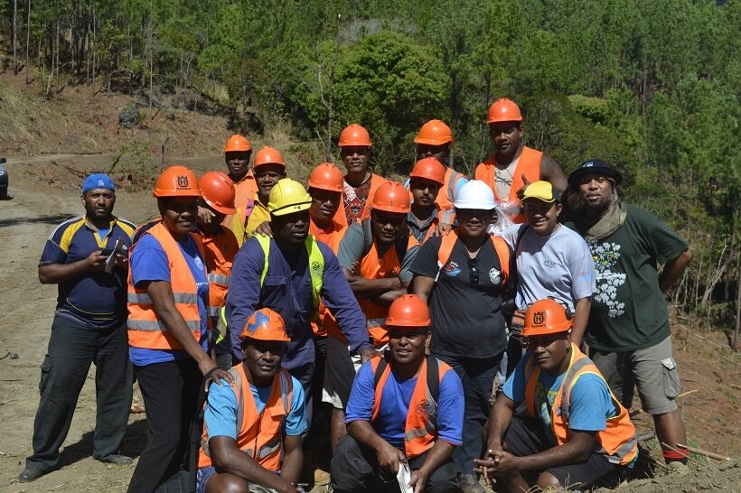 Staff of the Department of Forests who have been undergoing Forestry Technical Training with the Forestry Training Centre for the last 6 months at the Naseyani Pine Plantation with MareqetiViti herpetologist, Nunia Thomas