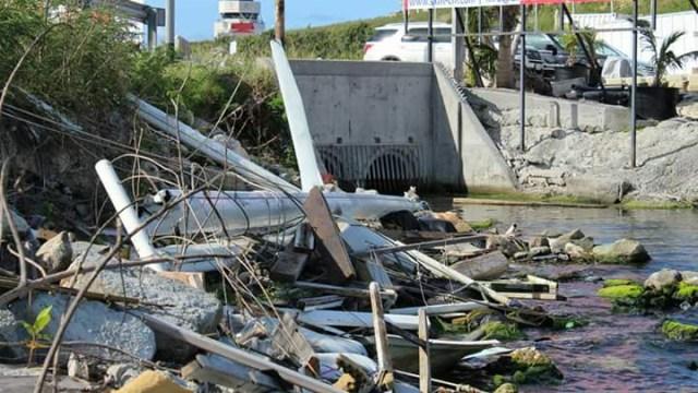 hurricane garbage in creek